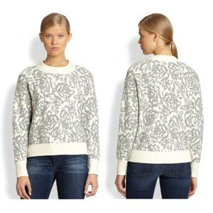 REBECCA TAYLOR Textured Floral Pullover Sweater